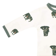 Load image into Gallery viewer, Printed Zippered Footie - Elephant