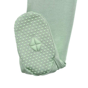 Solid Zippered Footie-Matcha