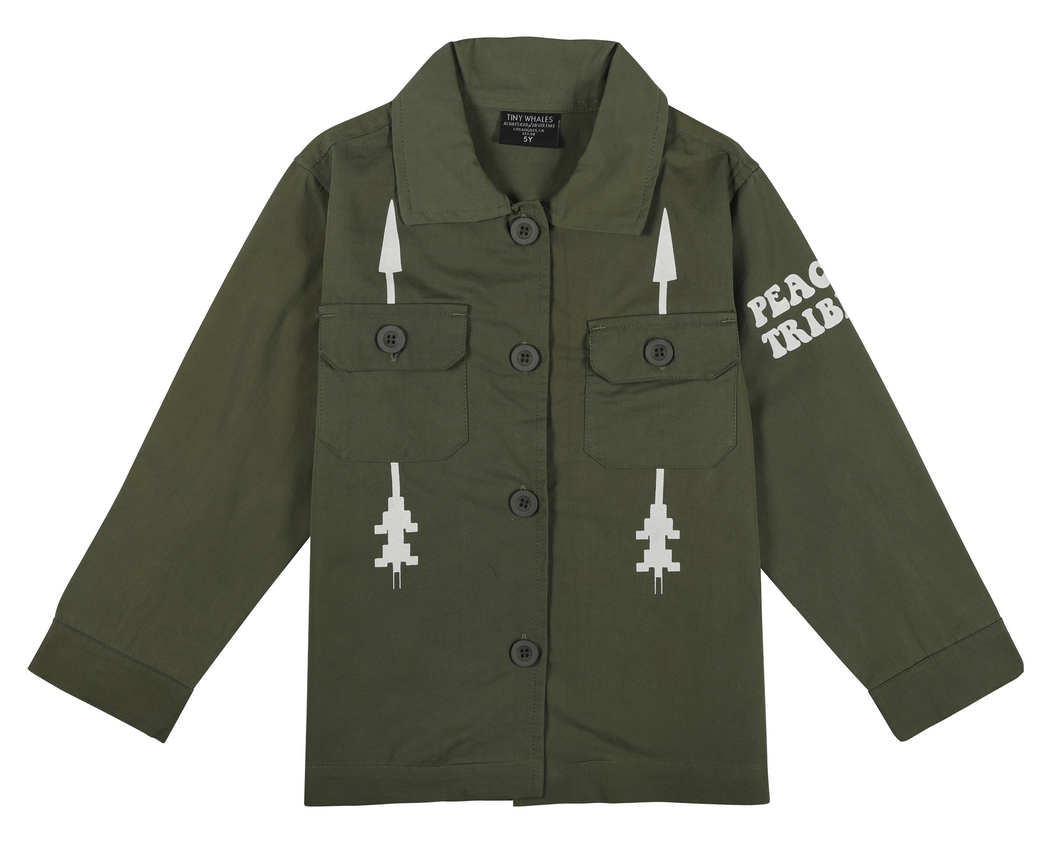 Peace Tribe Military Jacket-LIMITED EDITION