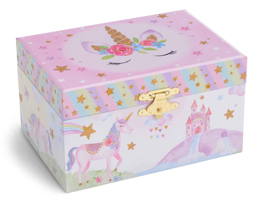 Rainbow Glitter Unicorn Musical Box