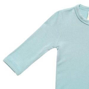 Solid Zippered Footie-Seafoam