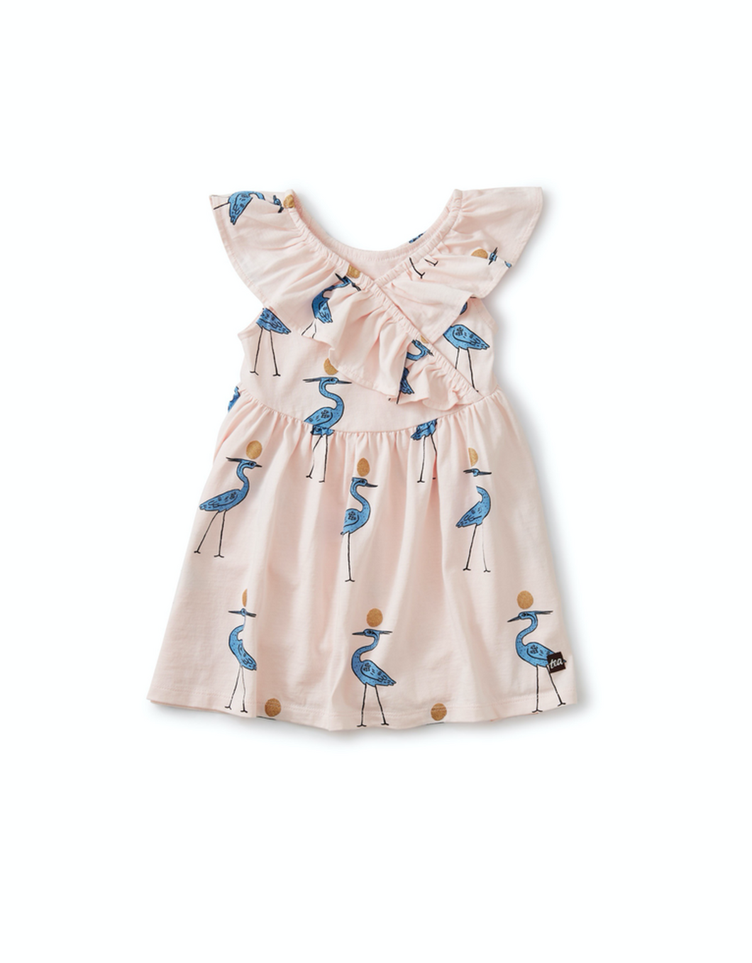 Ruffle Neck Dress-Sparkle Ibis