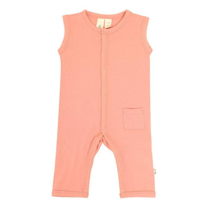 Solid Sleeveless Romper-Terracotta