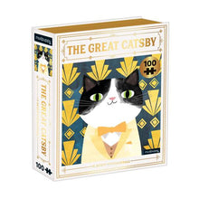 Load image into Gallery viewer, The Great Catsby Bookish Cats 100 Piece Puzzle