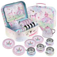 Load image into Gallery viewer, 15pc. Party Unicorn Tin Tea Set
