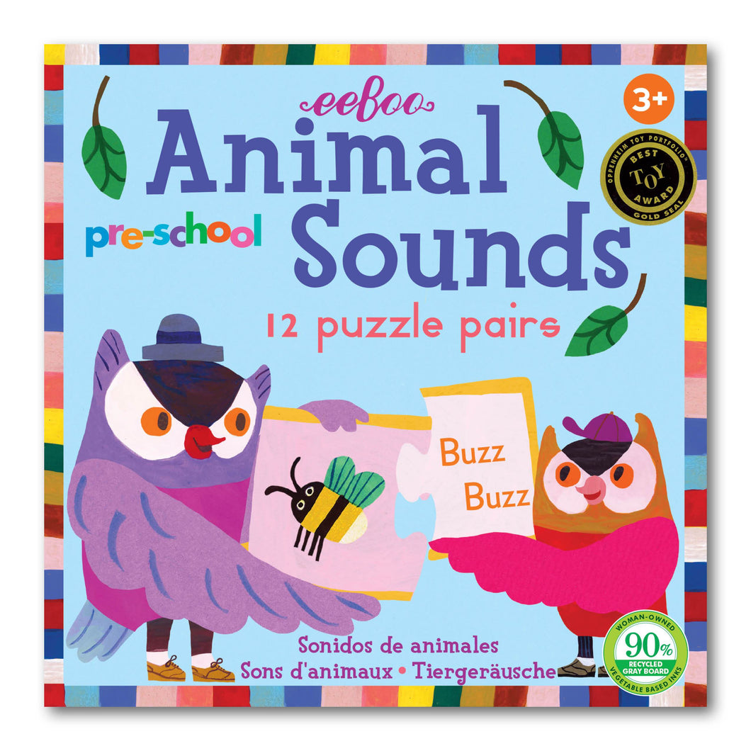 Pre-School Animal Sounds Puzzle Pairs
