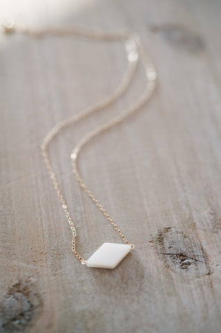 Diamond Mother of Pearl Necklace