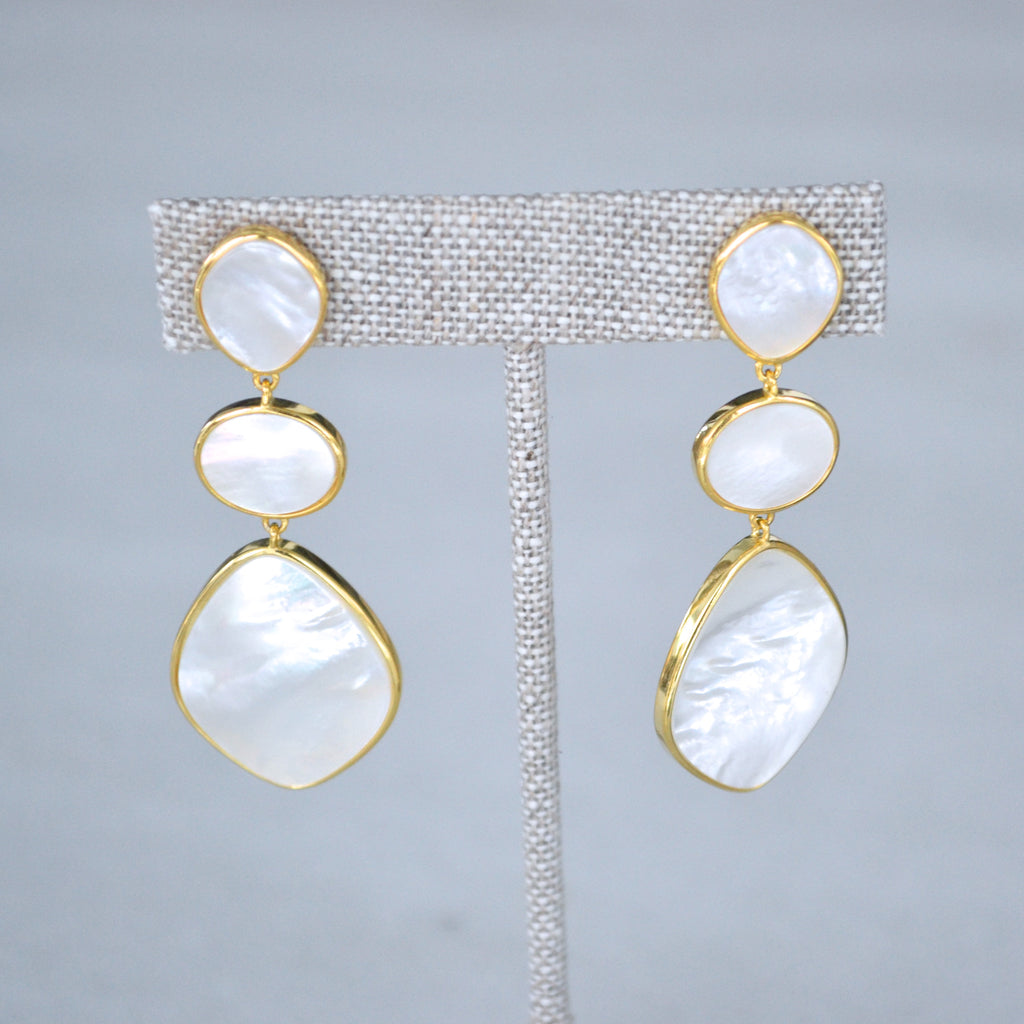 The Emily Earrings - White