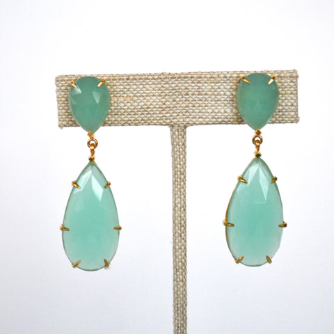The Fiona Earring Aqua Chalcedony