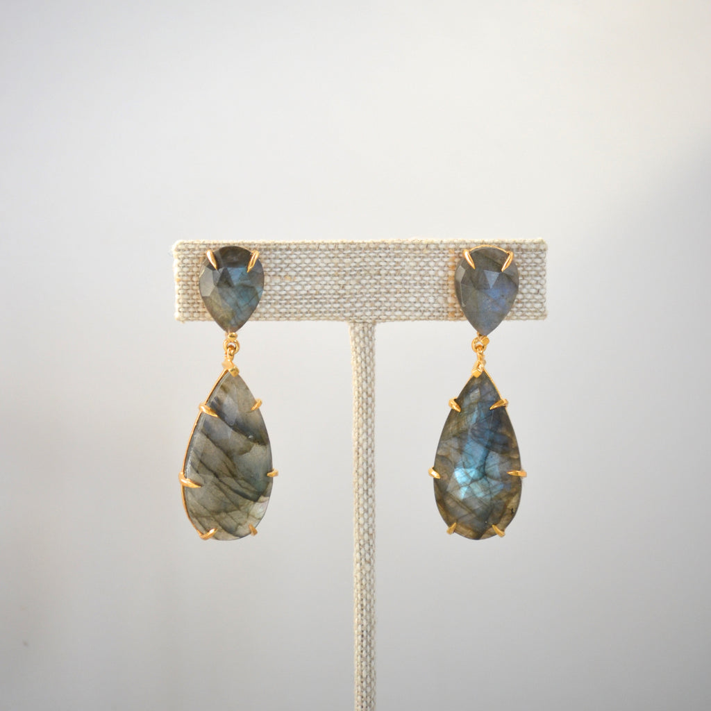 The Fiona Earring Labradorite
