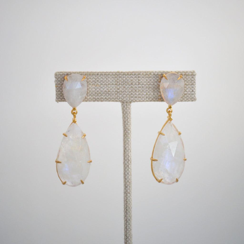 The Fiona Earring Moonstone