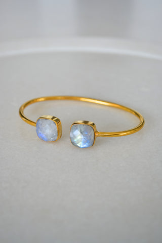 Moonstone Cushion Cut Bangle