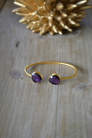 Amethyst Teardrop Bangle