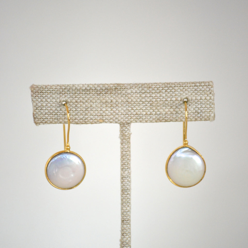Freshwater Pearl Round Drop Earring