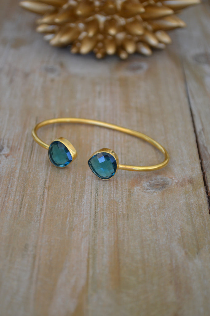 Blue Quartz Tear Bangle