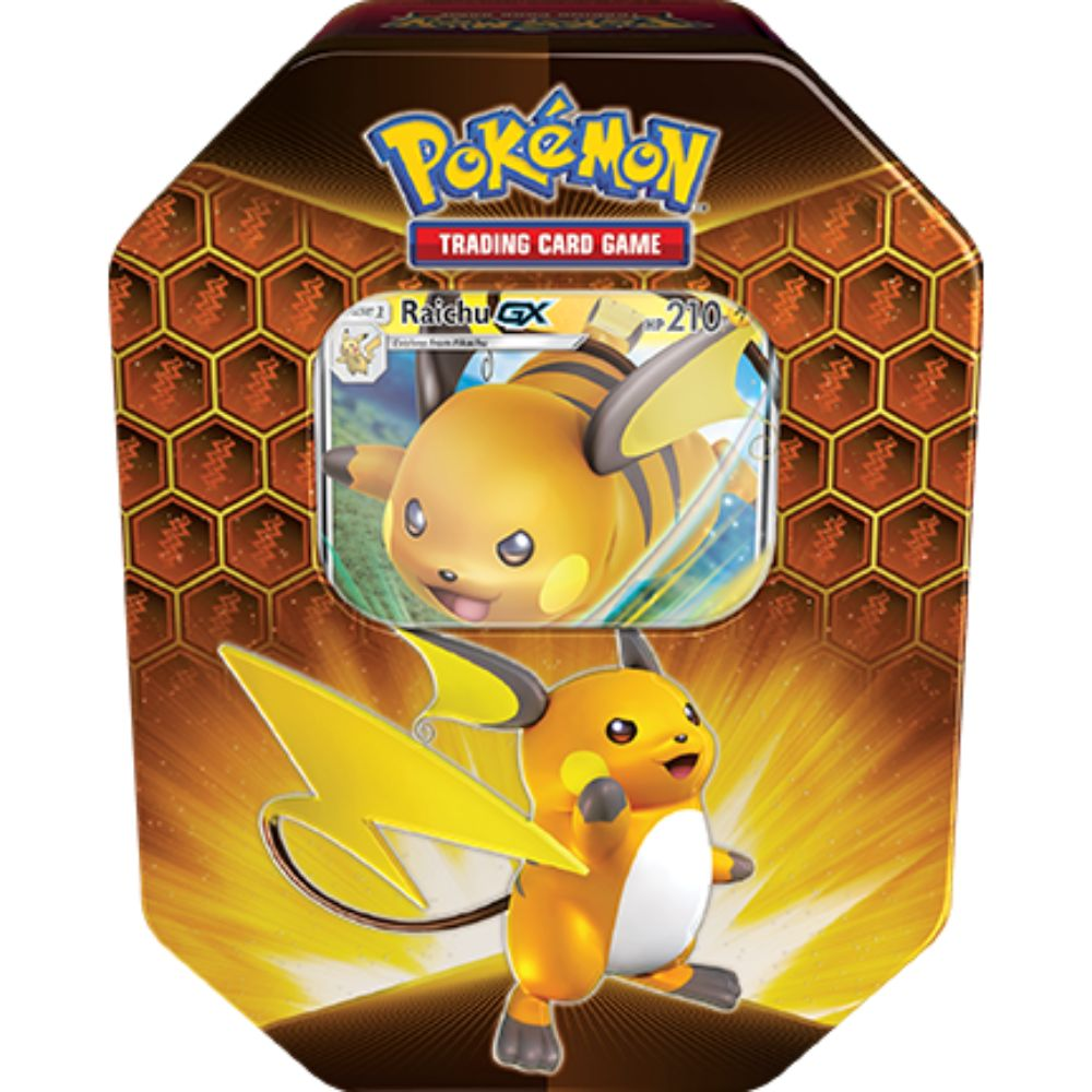 POKEMON TCG Hidden Fates - Raichu GX Tin - The Mythic Store | 24h Order Processing | The Mythic Store