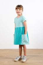 Load image into Gallery viewer, Mix & Match Dress - Block Print Geo & Stripe