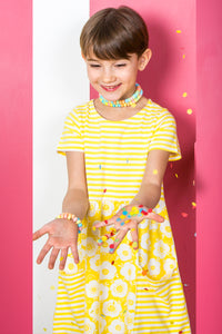Mix & Match Dress - Yellow Stripe & Floral