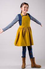 Load image into Gallery viewer, Cord Pinafore Dress - Ochre