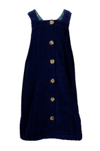 Load image into Gallery viewer, Cord Button Through Dress - Navy
