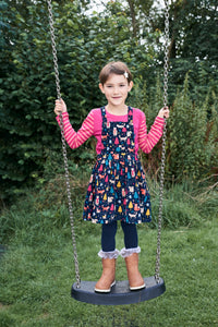 Cord Pinafore Dress - Woodland
