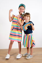Load image into Gallery viewer, Shift Dress - Multi Stripe