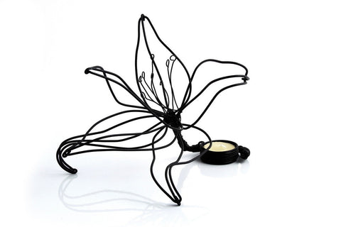 Votive - Tea Light, Lily, Wire