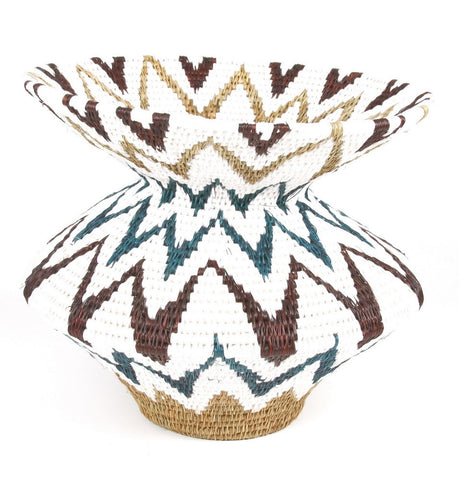Teal African Basket - Handcrafted in Africa