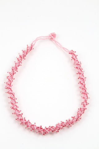 Necklace - Rope, Pink