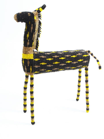 Black African Beaded Giraffe from South Africa