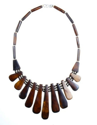 Necklace - Bone, Brown
