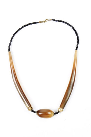 Necklace - Horn with ball