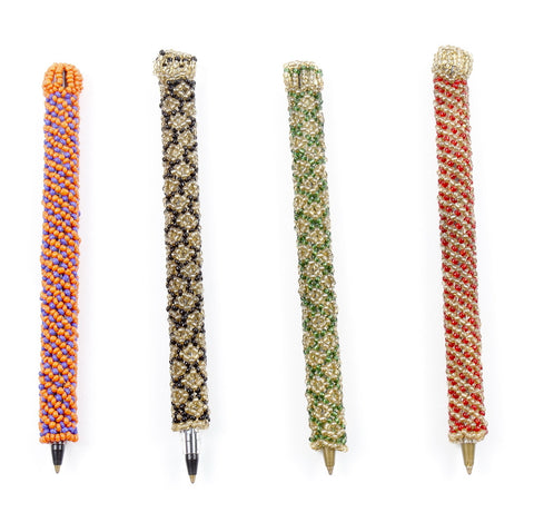 Beaded Pen Cover with Pen