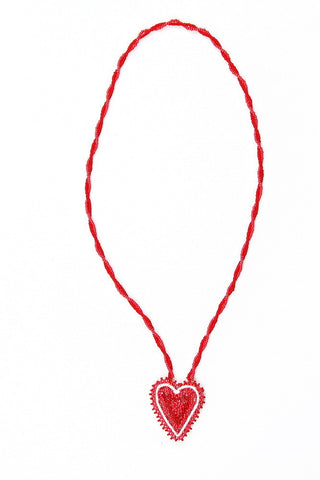 Necklace - Beaded, Heart, Small