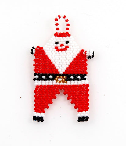 Ornament - Father Santa, Beaded, Small