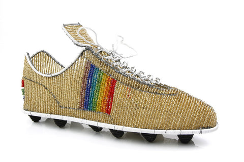 Shoe - Soccer Cleat, Beaded