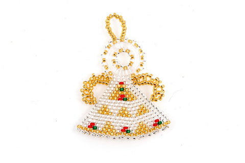 Ornament - Angel, Beaded, Small
