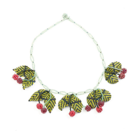 Necklace - Beaded, Cherries