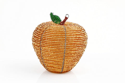 Small Beaded African Apple in Gold