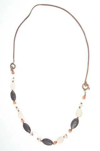 Necklace - Lava, Leopard