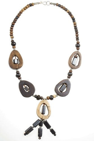 Necklace - Bone, Horizontal Brown