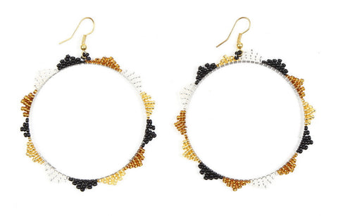Earrings - Beaded, Hoop
