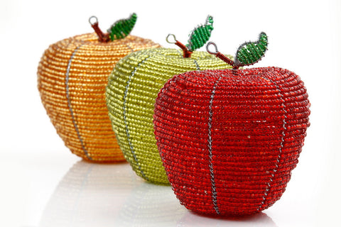 Large Red, Green, Gold Apples handmade by artisans in Africa