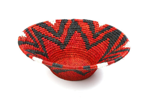Bowl - Sisal, Red/black