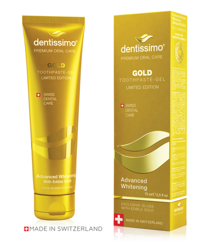 dentissimo Gold Whitening Zahnpasta 75ml Limited Edition