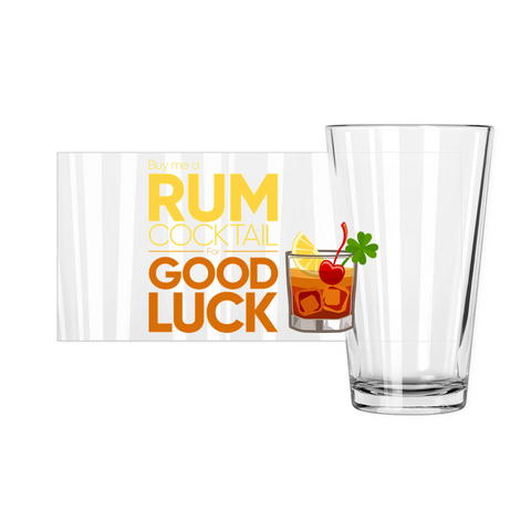 Buy Me a Rum Cocktail 2020 - Pint Glasses