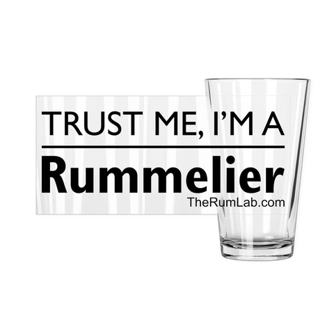 Trust me I'am a Rummelier (Original) - Pint Glasses