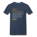 RUM PROBLEMS - Men's Premium Organic T-Shirt - navy
