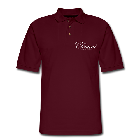 CLÉMENT RHUM - Men's Pique Polo Shirt - burgundy