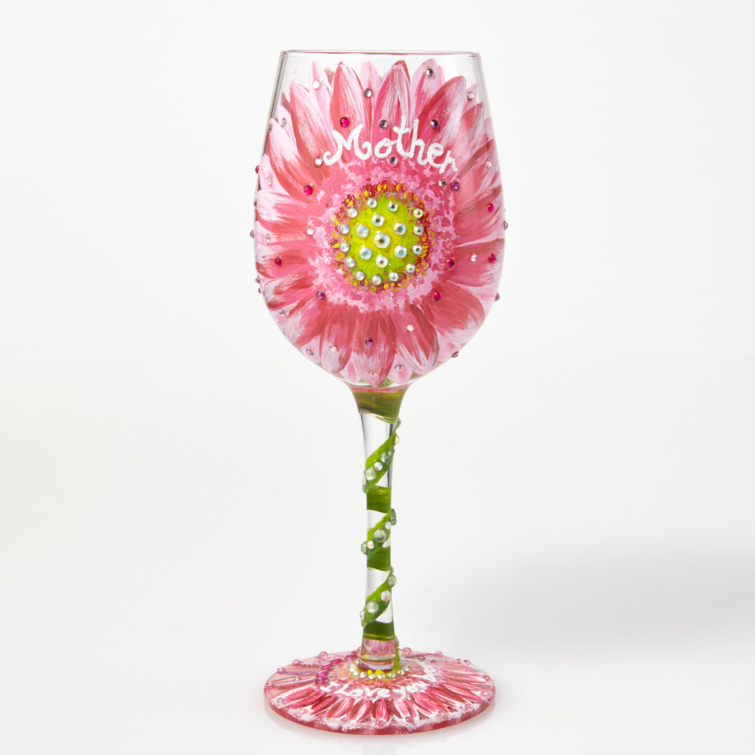 Mom's Love in Bloom Lolita Wine Glass